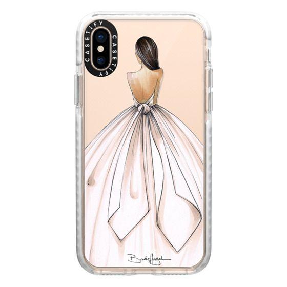 iPhone XS Cases - Gwen-Brunette Bride-Brooklit-Fashion Illustration