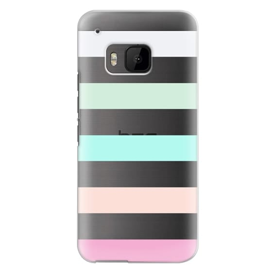 Htc One M9 Cases - STRIPED - PEACHED