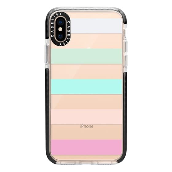iPhone XS Cases - STRIPED - PEACHED