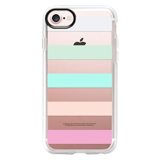iPhone 4 Cases - STRIPED - PEACHED
