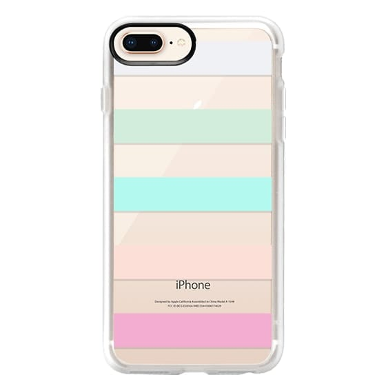 iPhone 8 Plus Cases - STRIPED - PEACHED
