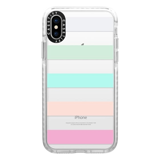 iPhone X Cases - STRIPED - PEACHED