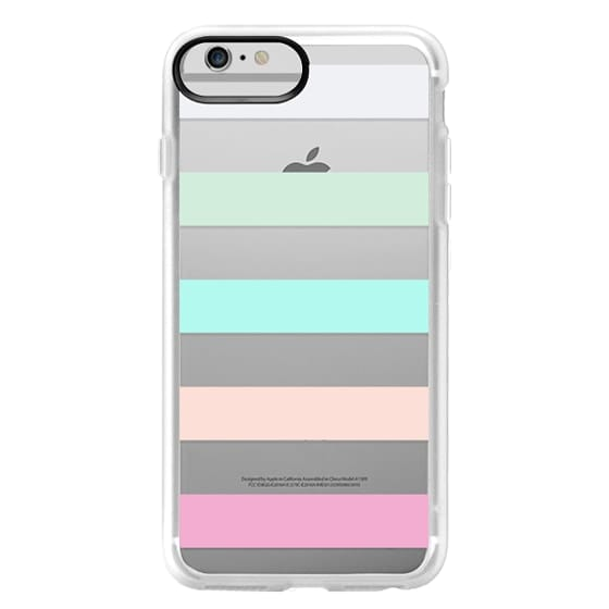 iPhone 6 Plus Cases - STRIPED - PEACHED
