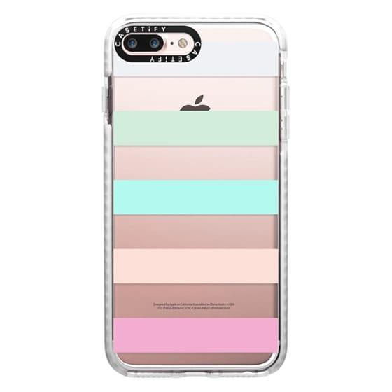 iPhone 7 Plus Cases - STRIPED - PEACHED