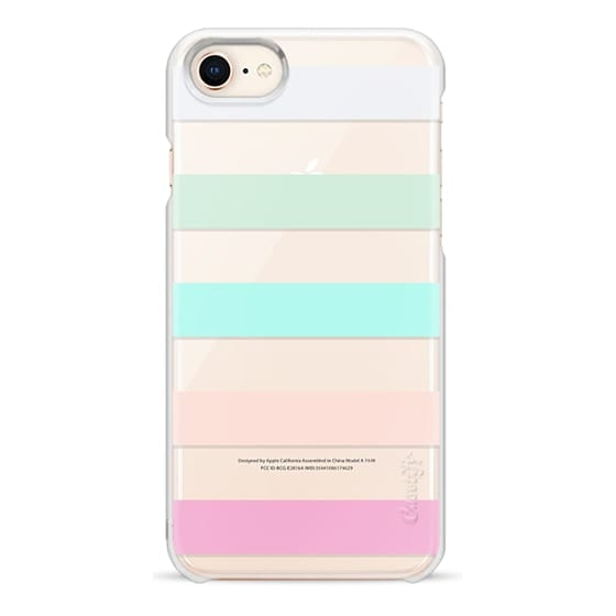 iPhone 8 Cases - STRIPED - PEACHED