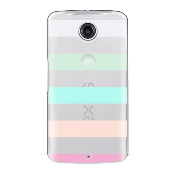 Nexus 6 Cases - STRIPED - PEACHED