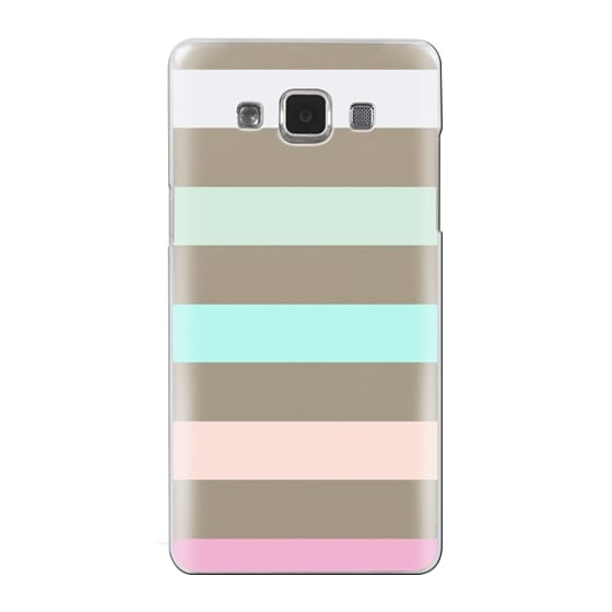 Samsung Galaxy A5 Cases - STRIPED - PEACHED