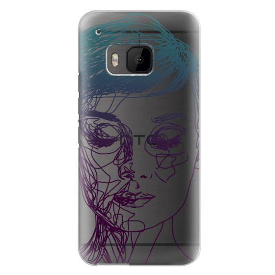 Htc One M9 Cases - Audrey Blue Transparent