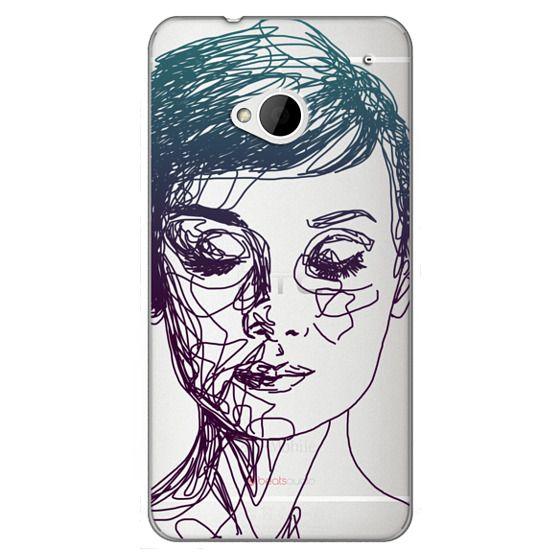 Htc One Cases - Audrey Blue Transparent