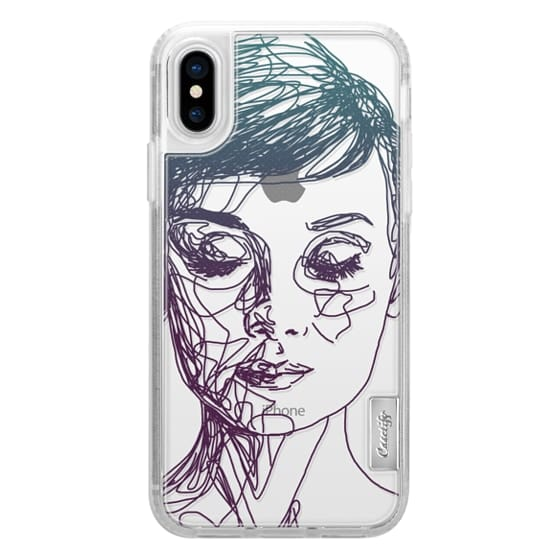 iPhone X Cases - Audrey Blue Transparent