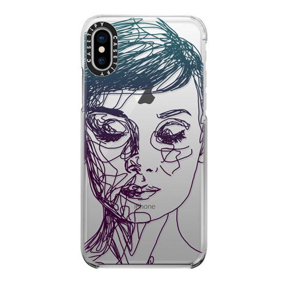 iPhone X Cases - Audrey Blue Transparent