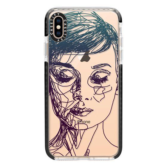 iPhone XS Max Cases - Audrey Blue Transparent