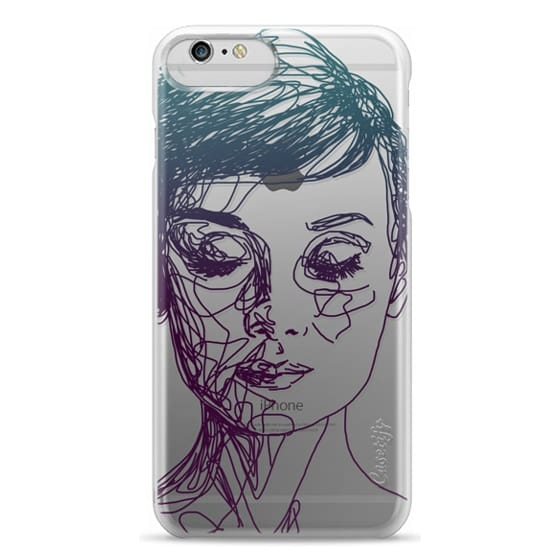 iPhone 6 Plus Cases - Audrey Blue Transparent
