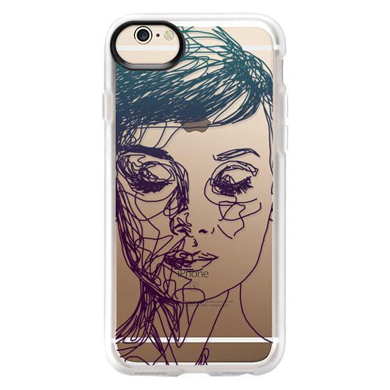 iPhone 6 Cases - Audrey Blue Transparent