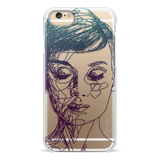 iPhone 4 Cases - Audrey Blue Transparent