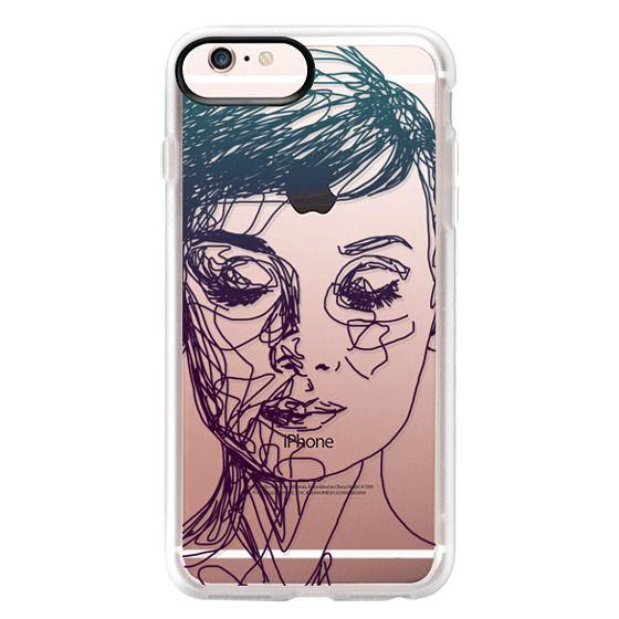 iPhone 6s Plus Cases - Audrey Blue Transparent
