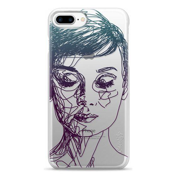 iPhone 7 Plus Cases - Audrey Blue Transparent