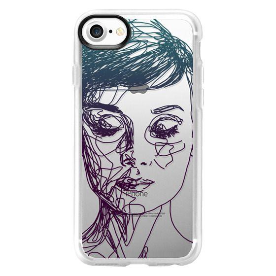 iPhone 7 Cases - Audrey Blue Transparent