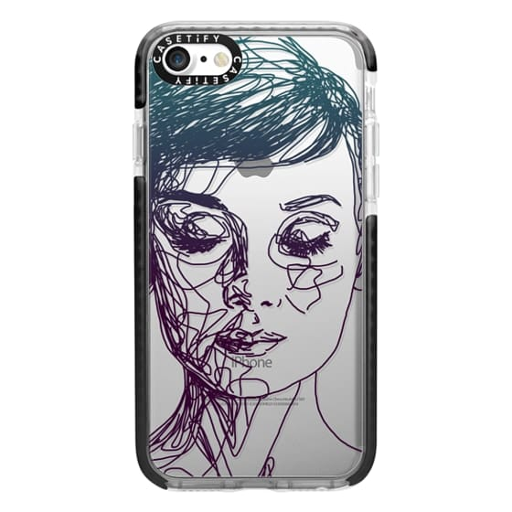 iPhone 7 Cases - Audrey Blue Transparent