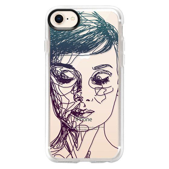 iPhone 8 Cases - Audrey Blue Transparent