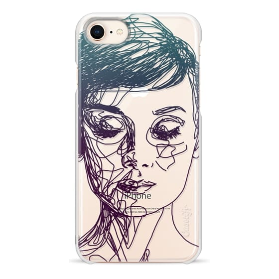 iPhone 8 Cases - Audrey Blue Transparent