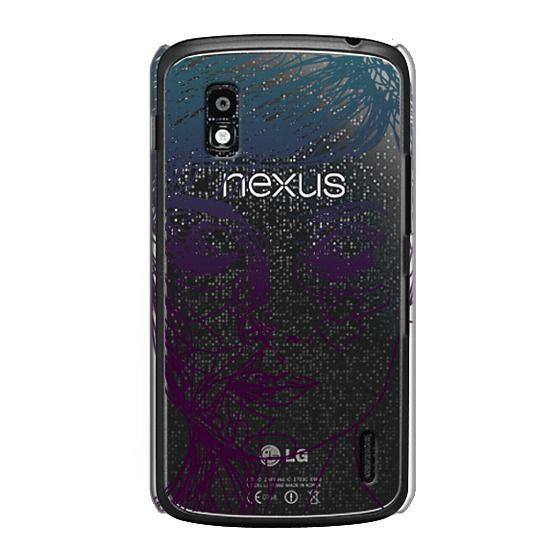 Nexus 4 Cases - Audrey Blue Transparent