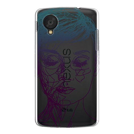 Nexus 5 Cases - Audrey Blue Transparent