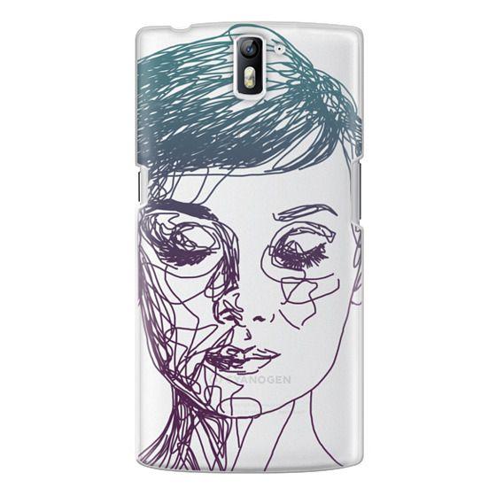 One Plus One Cases - Audrey Blue Transparent