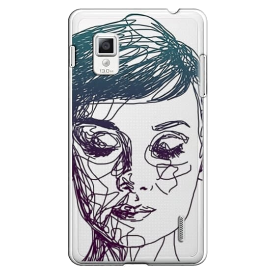 Optimus G Cases - Audrey Blue Transparent