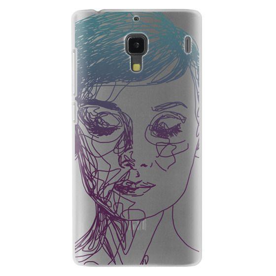 Redmi 1s Cases - Audrey Blue Transparent