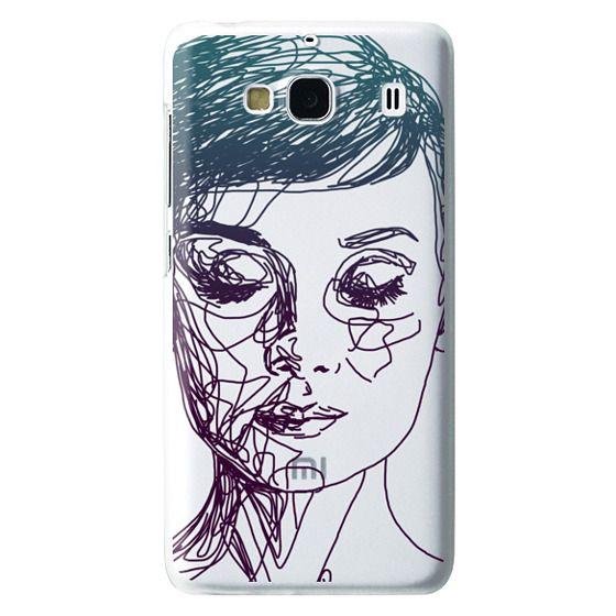 Redmi 2 Cases - Audrey Blue Transparent