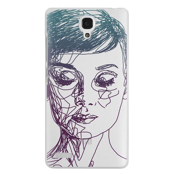 Redmi Note Cases - Audrey Blue Transparent