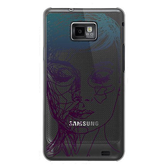 Samsung Galaxy S2 Cases - Audrey Blue Transparent