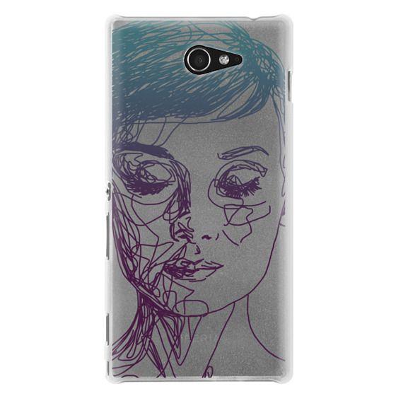 Sony M2 Cases - Audrey Blue Transparent