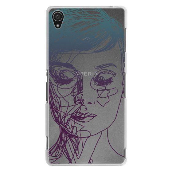 Sony Z3 Cases - Audrey Blue Transparent