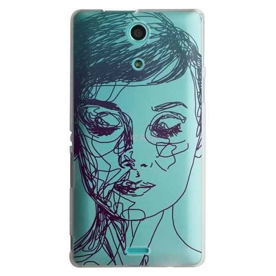 Sony Zr Cases - Audrey Blue Transparent