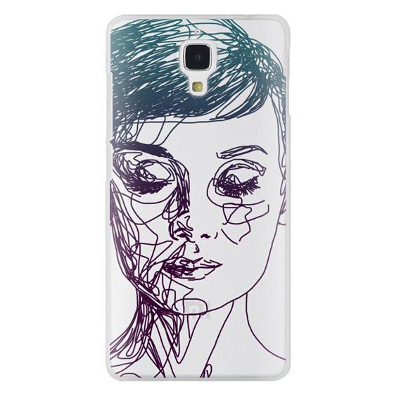 Xiaomi 4 Cases - Audrey Blue Transparent