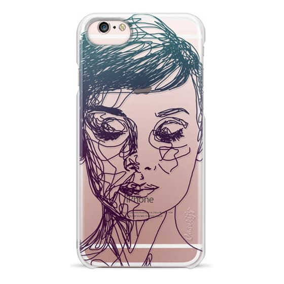 iPhone 6s Cases - Audrey Blue Transparent