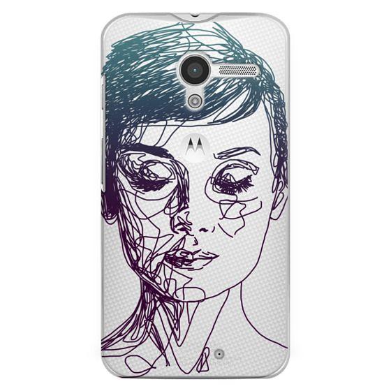 Moto X Cases - Audrey Blue Transparent