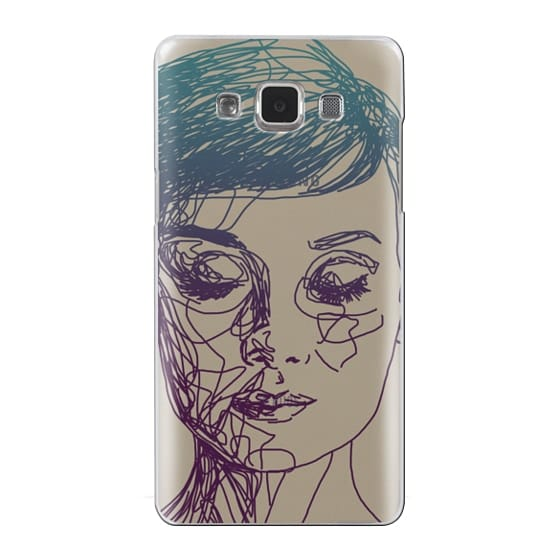 Samsung Galaxy A5 Cases - Audrey Blue Transparent