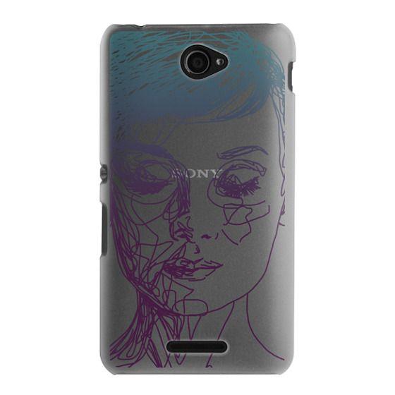 Sony E4 Cases - Audrey Blue Transparent