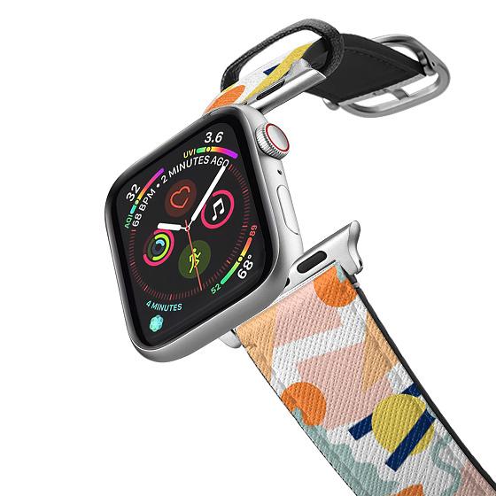 CASETiFY Apple Watch Band (38mm/40mm) Saffiano Leather Watchband V4 - Ramen Apple Watch Band by Poke