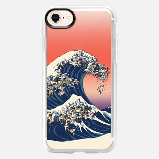 The Great wave of french bulldog - Snap Case