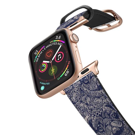 CASETiFY Apple Watch Band (38mm/40mm) Saffiano Leather Watchband V4 - Mandala of Pug