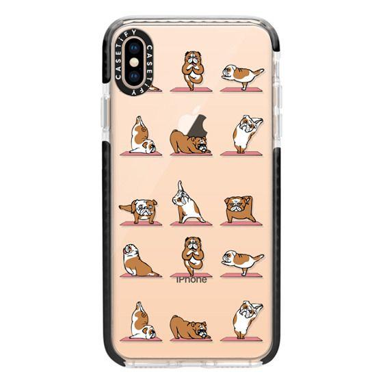 iPhone XS Max Cases - English Bulldog Yoga 2