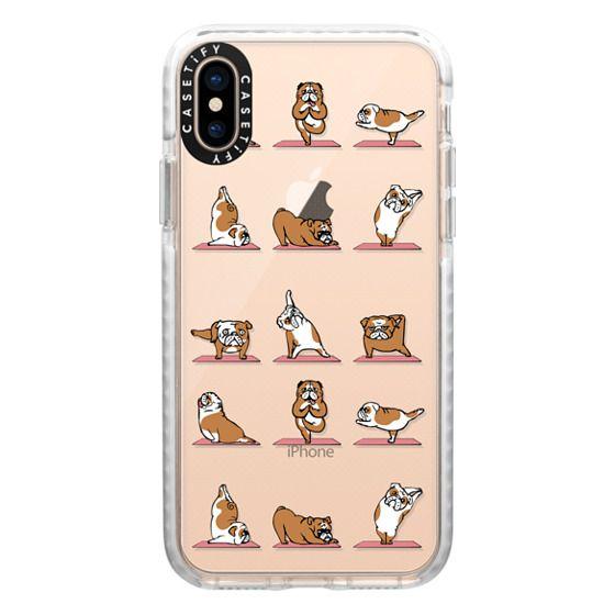 iPhone XS Cases - English Bulldog Yoga 2
