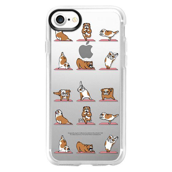 iPhone 7 Cases - English Bulldog Yoga 2
