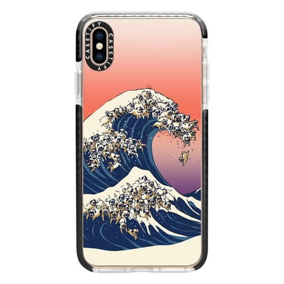 iPhone XS Max Cases - The Great Wave of Pug