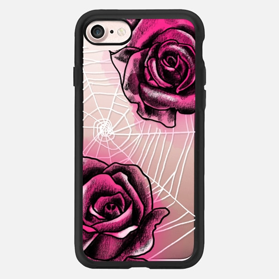 Spider Web with Roses -