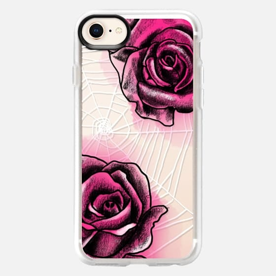 Spider Web with Roses - Snap Case